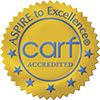 Bildet viser Carf-logoen