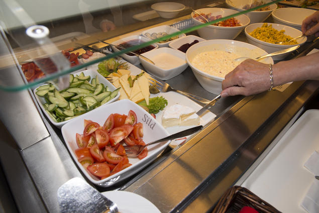 Bilde fra frokostbuffet
