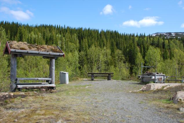 Bilde aav bålplass ved Fridalsparkeringen