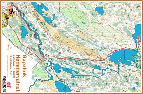 Kart Hømmervatnet