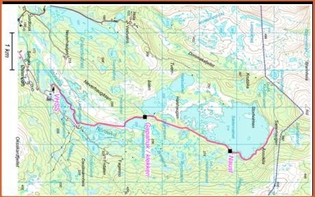 Kart Særervatnet, øst